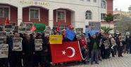 Turgutlu'da Zaman aboneleri gözaltıları protesto etti